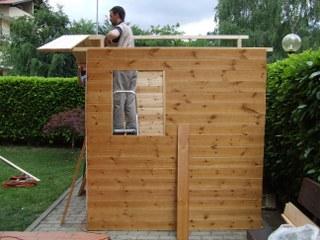 casetta in legno per attrezzi fai da te