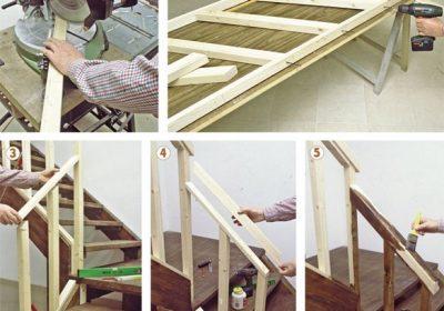 Come costruire una ringhiera in legno con il fai da te for Come costruire una casa in legno