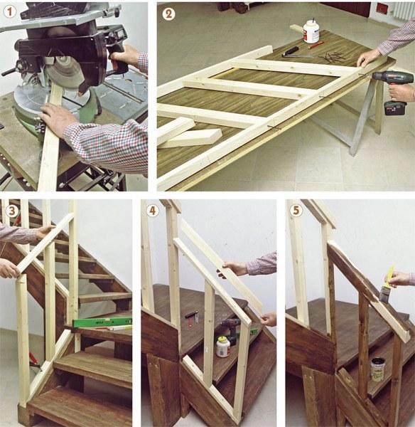 Come costruire una ringhiera in legno con il fai da te for Scale in legno fai da te
